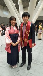 あゆみ、国際センターで一緒に活動した唯一の仲間。名古屋でも頑張ってね。