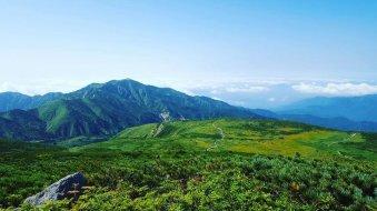 白山からの景色。